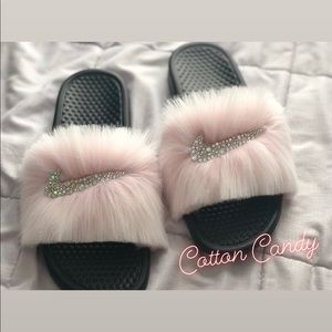 nike slippers with fur